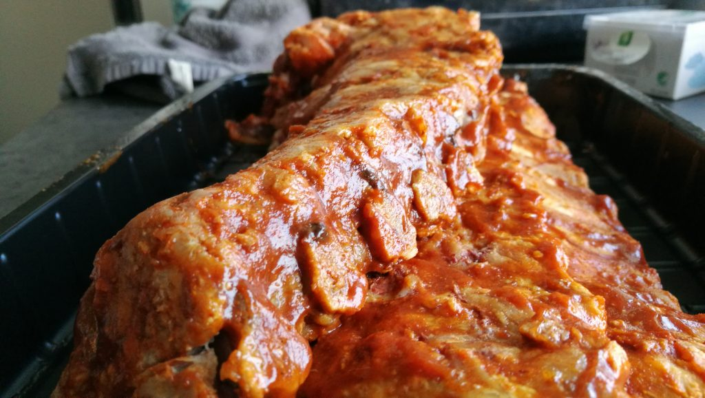 Marinated spareribs