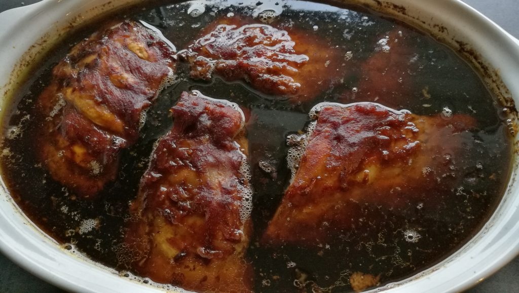 Ribs cooked in cola